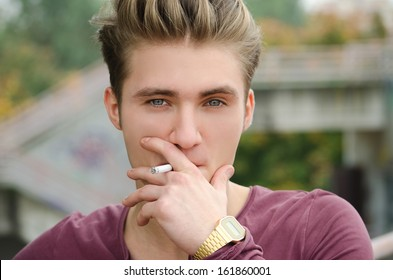 Blonde Blue Eyes Man Images, Stock Photos & Vectors ...