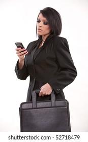 Attractive brunette hispanic businesswoman in her twenties
