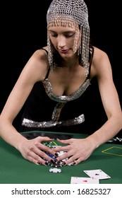 Strip poker commercial centrum Brunette