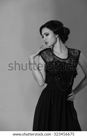 2b264c3acf6 Attractive Brunette Woman Resembling Coco Chanel Stock Photo (Edit ...