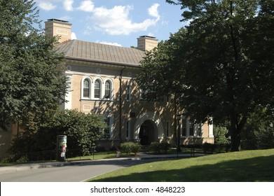 Beautiful Spreading Tree On American College Stock Photo (Edit Now