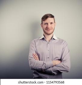 attractive confident businessman