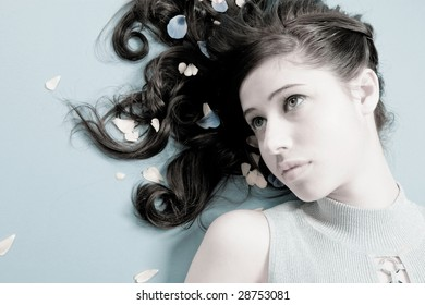 Attractive Female With Brunette Hair
