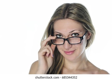 Attractive girl with glasses