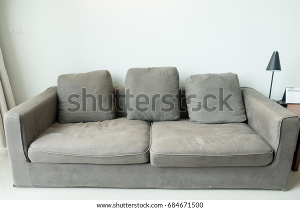 Strange Attractive Gray Sofa Casual Sofa Living Stock Photo Edit Pabps2019 Chair Design Images Pabps2019Com