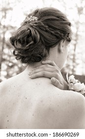 Attractive hairstyle for prom or formal occasion