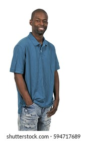 Attractive handsome young African American black man