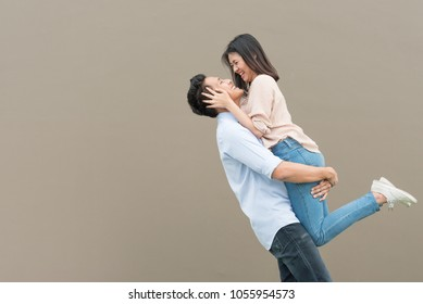 Couple Lift Hug Images Stock Photos Vectors Shutterstock
