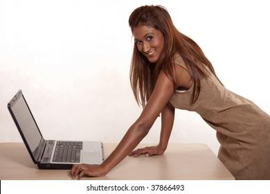 Attractive Indian brunette woman in her twenties