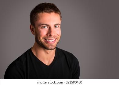 Attractive man wearing a black tshirt