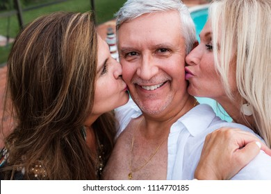 Attractive middle age group outdoor portrait