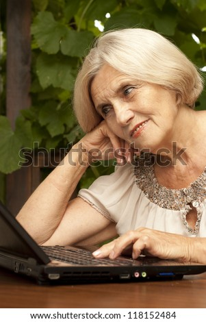 4c6fc3f3 Attractive Older Woman Sitting Table Home Stock Photo (Edit Now ...