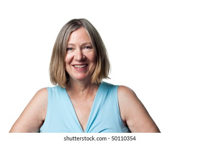 Attractive older woman in a traditional portrait