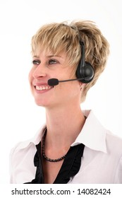 Attractive portrait of a switchboard operator