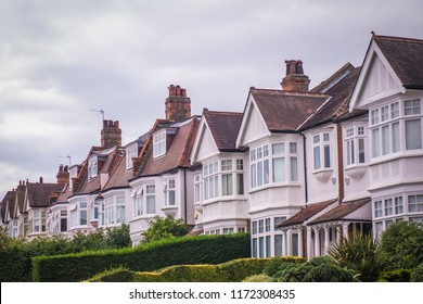 An attractive row of residential houses in south west London