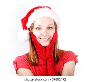 Attractive santa girl