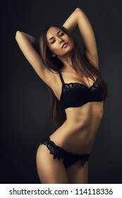 attractive sexy woman in lingerie
