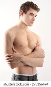 Attractive Shirtless Man