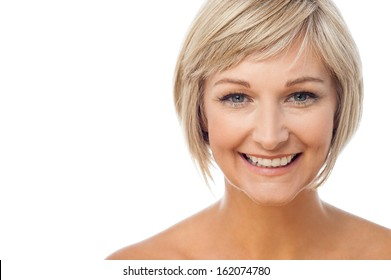 Attractive smiling middle aged woman