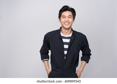 Attractive smiling young asian man