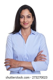 Attractive turkish businesswoman with crossed arms