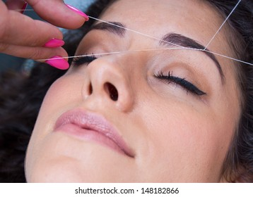 Eyebrow Threading Images, Stock Photos & Vectors | Shutterstock