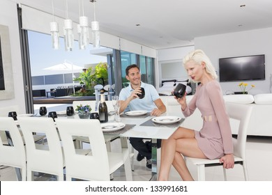 Attractive woman in luxury apartment