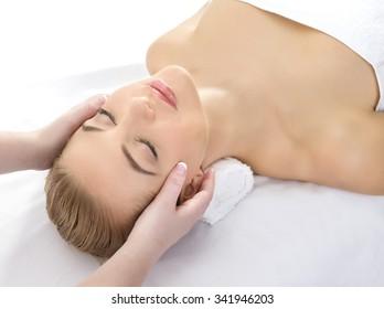 Attractive woman at a spa