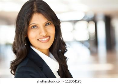 attractive young asian businesswoman closeup portrait