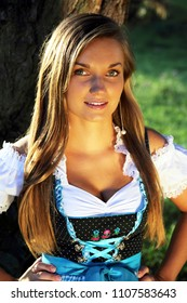 Attractive young bavarian Girl