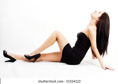 attractive young brunette woman