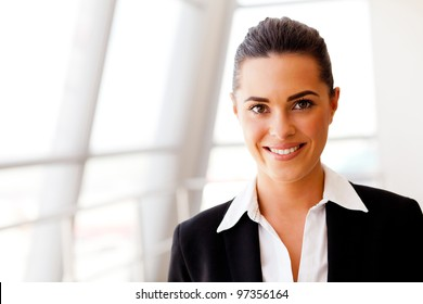 attractive young businesswoman portrait