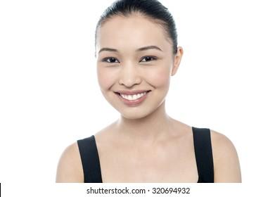 Attractive young girl, closeup face shot
