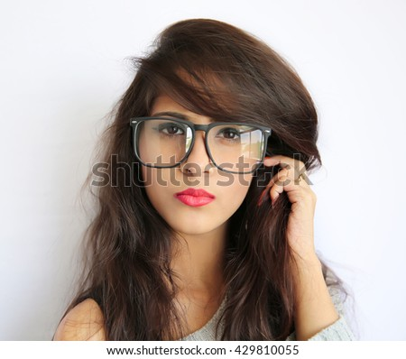 Sexy girl in spectacles indian