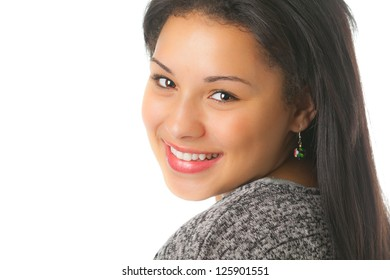 An attractive young lady with a modern DSLR camera