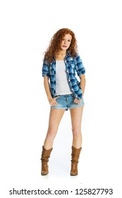 1 074 Woman Wearing Cowboy Woman Wearing Cowboy Boots Images