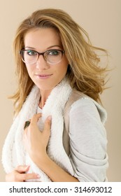 631f5e5a4a89 Sexy Female Glasses White Shirt Big Stock Photo (Edit Now) 406870630 ...