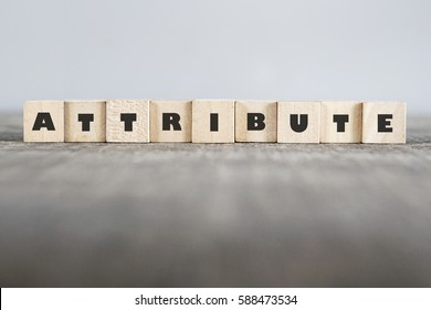 ATTRIBUTE word made with building blocks