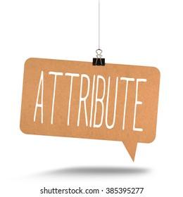 attribute word on cardboard