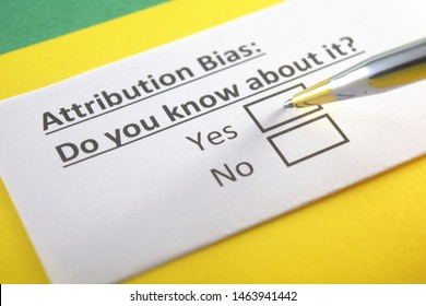 Attribution bias : do you know about it? yes or no