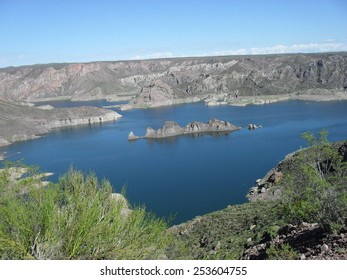Atuel Lake Submarine in Autumn, Mendoza, Argentina