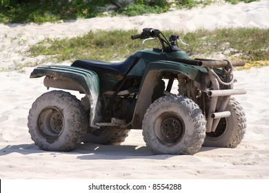 ATV on the beach in Mexico.