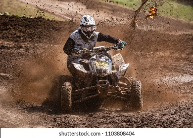 ATV Rider in the mud