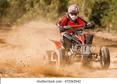 ATV Rider in the race