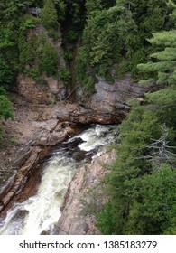 Au sable river running through the chasm