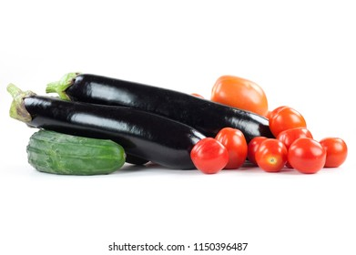 aubergine, tomatoes and zucchini from the bio-vegetable garden