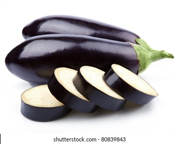 aubergine vegetable isolated on white