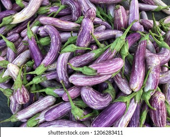 aubergines as a background