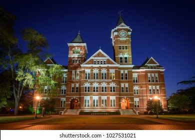Auburn, AL - September 23: Samford Hall, completed in 1888, sits as a popular landmark on the campus of Auburn University, in Auburn, Alabama on September 23, 2016. (3203)