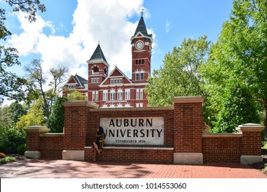 AUBURN, AL, USA - OCTOBER 10, 2017: Auburn University located in Auburn, Alabama is a public research university founded in 1856.
